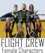 Flight Crew Character Pre-Loads for Genesis 8 Female (G8F) by Winterbrose. This set of seven (7) pre-load character designs was compiled by WAaG to be used with our Flight Crew Poses for Genesis 8 designed for the StarJet vehicle and add-on Cockpit created by Kibarreto. Start your StarJet adventures out right with these scene pre-loads of female characters for the seats available in the cockpit: Captain (Pilot) 1st Officer (Co-Pilot) Chief Comm Engineer Navigator Specialist Security Chief Load Master You must install the required items for each scene pre-load before merging or loading the character into the scene. The Readme file contains all of the items used for each character and the links to their respective product pages.