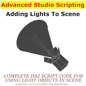 In this training you will learn how to programatically (code) add lights to your Scene with Daz Script.  Includes full sourcecode from Cube of Lights and Ring of Lights routines.